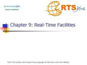 Chapter 9 RealTime Facilities RealTime Systems and Programming