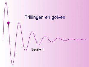 Trillingen en golven Sessie 4 Gedwongen harmonische oscillator