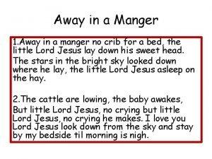 Away in a Manger 1 Away in a