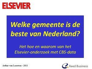 Welke gemeente is de beste van Nederland Het