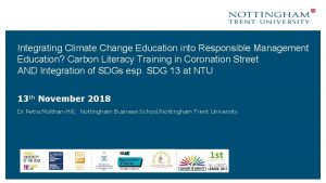 Integrating Climate Change Education into Responsible Management Education
