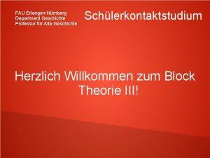 FAU ErlangenNrnberg Department Geschichte Professur fr Alte Geschichte