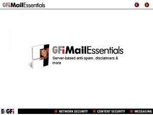 Serverbased antispam disclaimers more GFI Mail Essentials for