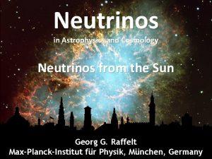 Crab Nebula Neutrinos in Astrophysics and Cosmology Neutrinos