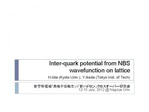 Interquark potential from NBS wavefunction on lattice H