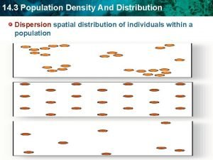 14 3 Population Density And Distribution Dispersion spatial