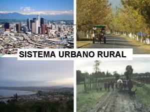 SISTEMA URBANO RURAL CONTENIDOS SISTEMA URBANO RURAL TERRITORIO
