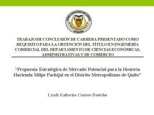 TRABAJO DE CONCLUSIN DE CARRERA PRESENTADO COMO REQUISITO
