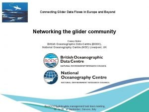 Connecting Glider Data Flows in Europe and Beyond