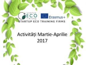 Activiti MartieAprilie 2017 Firma mentor Firma mentor VELO