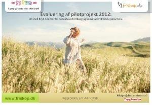 Evaluering af pilotprojekt 2012 G med Bryd Grnser