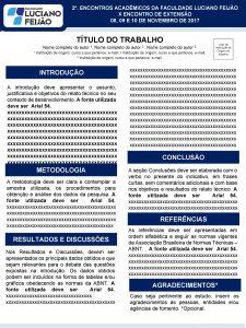 2 ENCONTROS ACADMICOS DA FACULDADE LUCIANO FEIJO X