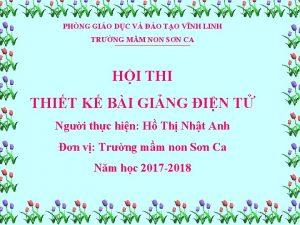 PHNG GIO DC V O TO VNH LINH