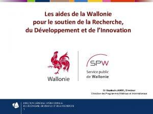 Les aides de la Wallonie pour le soutien