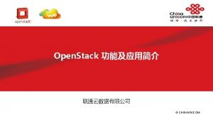 Openstack l Open Stack is an open source