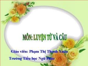 Gio vin Phm Th Thanh Xun Trng Tiu