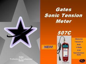 Gates Sonic Tension Meter 507 C Measures Tension
