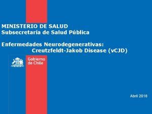 MINISTERIO DE SALUD Subsecretara de Salud Pblica Enfermedades