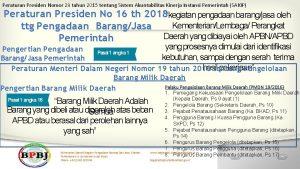 Peraturan Presiden Nomor 29 tahun 2015 tentang Sistem