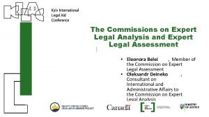 The Commissions on Expert Legal Analysis and Expert