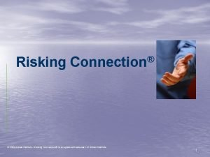 Risking Connection 2006 Sidran Institute Risking Connection is