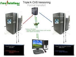 TripleA CVS Versioning Format transfert CVS Server PC