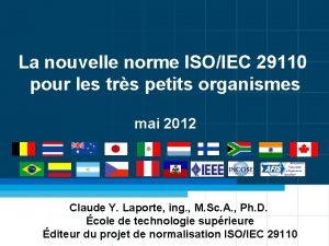 La nouvelle norme ISOIEC 29110 pour les trs