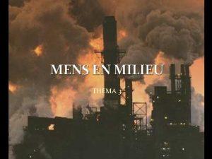 MENS EN MILIEU THEMA 3 Introductie Mensen en
