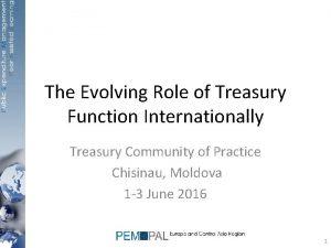 The Evolving Role of Treasury Function Internationally Treasury