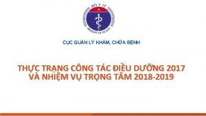 CC QUN L KHM CHA BNH THC TRNG