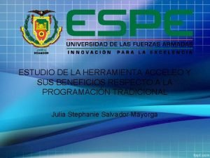 ESTUDIO DE LA HERRAMIENTA ACCELEO Y SUS BENEFICIOS