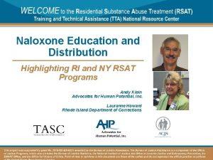 Naloxone Education and Distribution Highlighting RI and NY