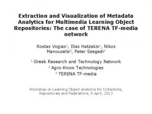 Extraction and Visualization of Metadata Analytics for Multimedia