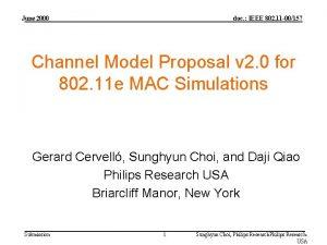 June 2000 doc IEEE 802 11 00157 Channel