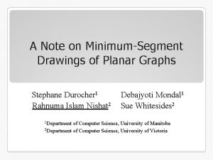 A Note on MinimumSegment Drawings of Planar Graphs
