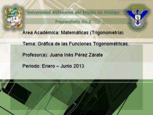 rea Acadmica Matemticas Trigonometra Tema Grfica de las