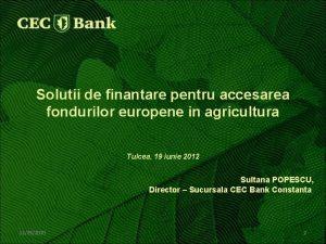 Solutii de finantare pentru accesarea fondurilor europene in