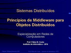 Sistemas Distribudos Princpios de Middleware para Objetos Distribudos