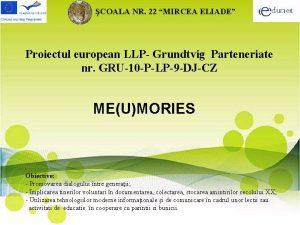 COALA NR 22 MIRCEA ELIADE Proiectul european LLP