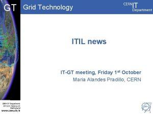 DB CF GT Grid Technology ITIL news ITGT