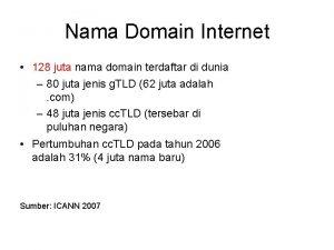 Nama Domain Internet 128 juta nama domain terdaftar