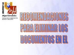 UNIDAD DE DOCUMENTACIN ARCHIVO Y REGISTRO NDICE LEGISLACIN