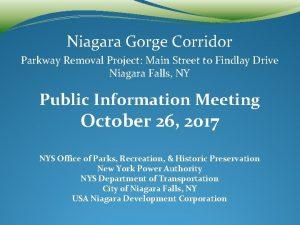 Niagara Gorge Corridor Parkway Removal Project Main Street
