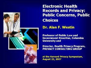 Electronic Health Records and Privacy Public Concerns Public
