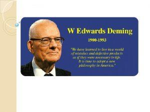 William Edwards Deming v Estadstico estadounidense v Profesor