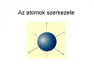 Az atomok szerkezete Demokritosz grg filozfus szerint Minden