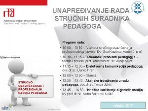 UNAPREIVANJE RADA STRUNIH SURADNIKA PEDAGOGA Program rada 10