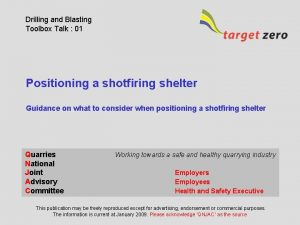 Drilling and Blasting Toolbox Talk 01 Positioning a