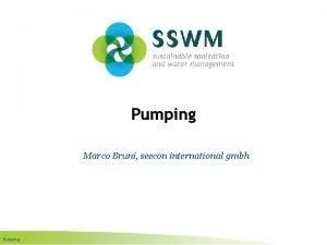 Pumping Marco Bruni seecon international gmbh Pumping Find