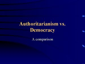 Authoritarianism vs Democracy A comparison How To Read